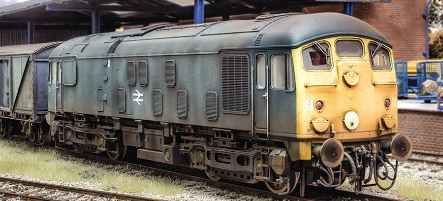 Jamie Mathlin likes to photograph locomotives on his Oakley Green OO gauge layout before enhancing the resulting images and then distributing them by social media. Looking very down at heel, this is his SLW 24081, which was professionally weathered by Matthew Dawson.